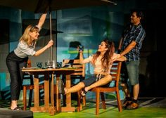 Lisel Gorell-Getz, Summer Spiro, and Jeffrey Jones in San Diego REP's production of DETROIT by Lisa D'Amour, directed by Sam Woodhouse.