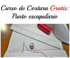 Curso de #costura Punto escapulario #Sewing #catchstitch