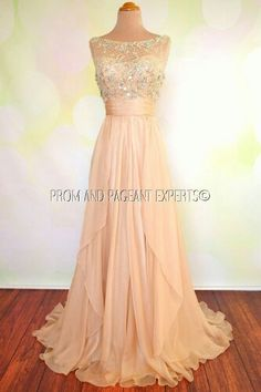 Beautiful pale peach bridesmaid dress. Would go perfectly with my delicate pink, ivory and gold colour scheme.