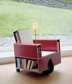 bookinist movable reading chair, nils holger moormann