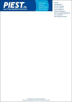 Brief- factuurpapier Piest nieuw logo 2014