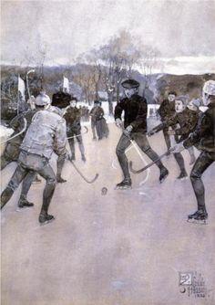 Childe Hassam (American: 1859-1935) | Skating