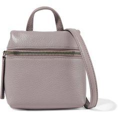 Kara Micro textured-leather shoulder bag (€345) ❤ liked on Polyvore featuring bags, handbags, shoulder bags, taupe, crossbody cell phone purse, kara backpack, backpack shoulder bag, white backpack and white crossbody handbags