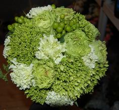 Sweet bridal bouquet for a St. Patrick's Day wedding - 2012