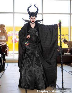 Maleficent cosplay costume at Ottawa Comic Con 2014