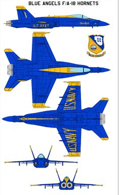 Blue Angels FA-18 Hornets by =bagera3005 on deviantART