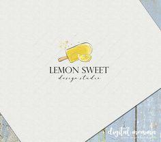 Organic Ice Cream, Sweet Logo, Farm Logo, Summer Fruit, Popsicles, Food And Drink, Lemon, Branding, Digital
