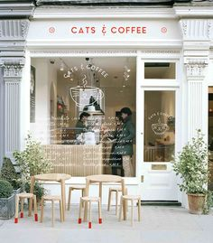 New Coffee Shop Door Design Store Fronts Ideas Modern Restaurant, Cafe Restaurant, Cafe Bar, Interior Design Software, Salon Interior Design, Café Exterior, Exterior Signage, Small Coffee Shop, Coffee Shops
