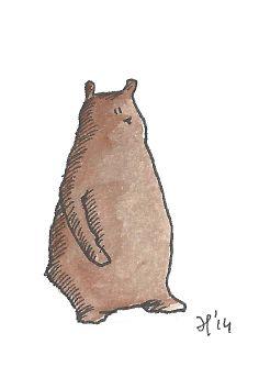 Bear by Eva Poppink littlewhitebunnies.com