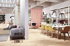 HAY retail store in Shanghai, China by Studio David Thulstrup, Photo Courtesy of HAY. Herringbone Wooden Floors, Wooden Flooring, Copenhagen Apartment, Retail Concepts, 2017 Design, Home Studio, Danish Design, Retail Design