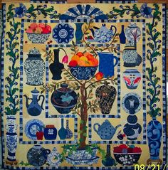 Applique quilt, blue treasures  This is the quilt that persuaded me to learn applique