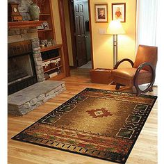 "Orian Arizona Evening Runner Rug, $79.97  ~  Area rug size in inches: 5' 3""' x 7' 6""  Research by phone!! The specs for the matching runner showed shipping weight is 5.5 lbs; could not get weight on this rug, Reviews were mixed on the webpage"