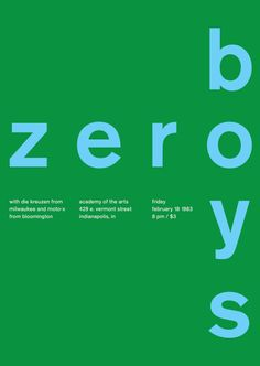 zero boys at academy of the arts, 1983 - swissted