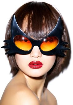 These Cat Glasses are the Perfect Last-Minute Halloween Accessory #eyewear trendhunter.com