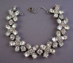 Learn How Much Your Vintage Costume Jewelry is Worth: Bogoff Rhodium Plated Rhinestone Bracelet - September 07 2019 at Jewelry Tags, Pandora Jewelry, Bridal Jewelry, Beaded Jewelry, Silver Jewellery, Dragonfly Jewelry, Jewelry Bracelets, Rhinestone Jewelry, Handmade Jewelry