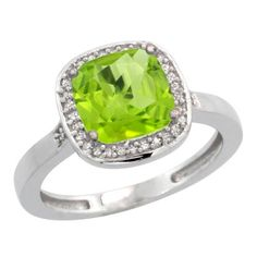 Sterling Silver Diamond Peridot Ring 2.08 ct Checkerboard Cushion 8mm Stone 1/2.08 inch wide, size 5 Gabriella Gold,http://www.amazon.com/dp/B009V3J7J2/ref=cm_sw_r_pi_dp_WCycsb00BM0FXB2Z