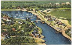 Old Aerial of Perkins Cove #Ogunquit Maine