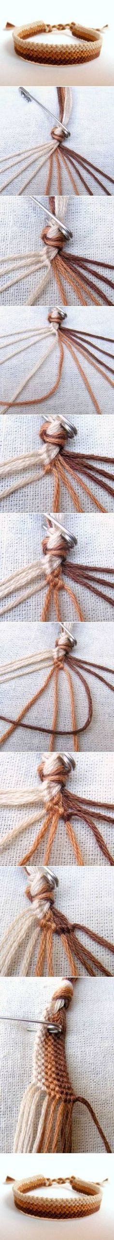 How To Make Easy Weave Bracelet step by step DIY tutorial instructions / How To Instructions