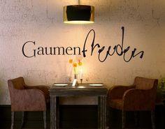 #Wandtattoo Sprüche - Wandworte No.UL887 #Gaumenfreuden #Küche #kitchen #essen…