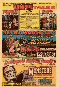 Vintage House Ad - Marvel Monster Magazines