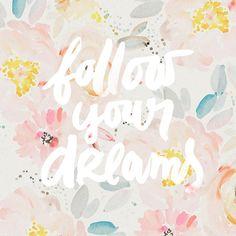 follow your dreams in watercolor field Art Print new in my Society6 shop :)