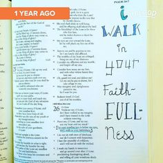 According to Timehop I created my first Bible journaling page a year ago! I was so sure that I was going to stick with this style of simple lettering in the margins and wouldn't be putting any paint over my words. (Famous last words!) A year ago I also had no idea I could paint and no idea how #biblejournaling was going to transform my walk with God once I started regularly spending time journaling this past August. I have grown so much since then both in my faith and as an artist. Thanks…