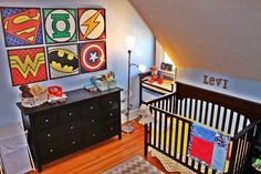 Marvel super hero boys room