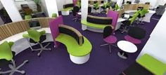 Image result for purple office design