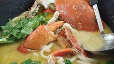Crab Bee Hoon (Recipe) Crab And Lobster, Scallops, My Recipes, Thai Red Curry, Lobsters, Crabs, Ethnic Recipes, Food, Bee