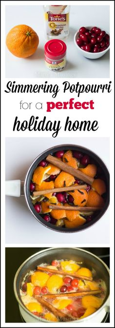 Welcome guests into your home with this homemade potpourri that is easy to make, smells amazing and adds a festive scent to holiday parties and celebrations. Perfect for any occasion! Lasts for weeks! Marty's Musings