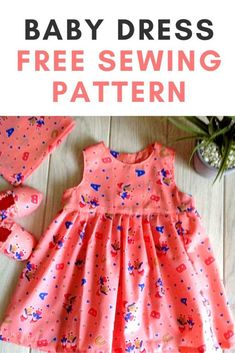 Learn how to sew a baby girl dress with this easy sewing pattern. This free DIY tutorial will help you make baby dresses from newborn to 12 month old babies. The fitted yoke and the ruffled skirt of the sewing project will help you dress up your little munchkin in style. #babydresswingpatternfree #babydressdiyeasyfreesewing #babydressdiynewborn