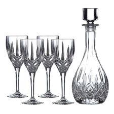 Royal Doulton Wine Decanter Set (Decanter 750ml, 4 x Wine Glasses)