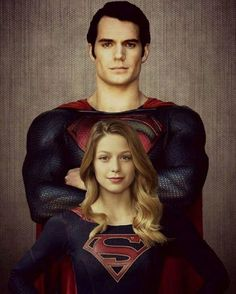 Superman and Supergirl (Henry Cavill and Melissa Benoist) Batman Vs Superman, Poster Superman, Supergirl Superman, Superman Family, Supergirl And Flash, Original Superman, Captain Marvel, Hero Marvel, Marvel Avengers
