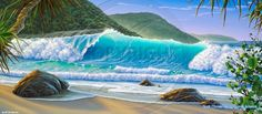 Scott Christensen Paintings | Surf Art Seascape Oil Painting Canvas Scott Christensen Original ...