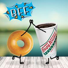 Tus mejores amigos para despertar esta mañana son un café y una deliciosa dona de Krispy Kreme Mexico. :P  ¿Qué esperas?