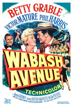 Chicago Movie Poster Art | Betty Grable - Wabash Avenue - Home Theater Media Room Decor - Movie ...