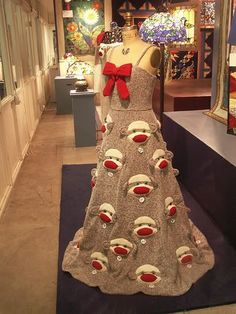 Oh, WHERE to put this....since I don't have a 'Frickin Nightmares' board -- Sock monkey dress for an evening out on the town: