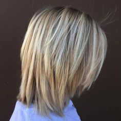 20 Long Choppy Bob Hairstyles for Brunettes and Blondes - Schulterlange Haare Frisuren Shoulder Length Hair With Bangs, Layered Haircuts Shoulder Length, Shoulder Length Hair Balayage, Shoulder Length Hair Cuts With Layers, Shoulder Length Hairstyles, Medium Hair Cuts, Medium Hair Styles, Short Hair Styles, Up Dos
