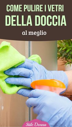 How to clean the shower windows to the fullest - Home Cleaning Window In Shower, How To Fold Towels, Desperate Housewives, Home Management, Shower Cleaner, Fresh And Clean, Natural Cleaning Products, Home Hacks, Declutter