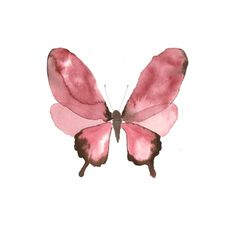 """""""Watercolor Butterfly"""": High quality Art Print by Copenhagen based artist Lissa Thimm. Limited edition, archival inks on matte, ultra smooth 310g cotton rag, 20x20 cm, via orangerie-prints.com"""