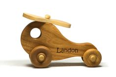 Wooden Toy Helicopter  Personalized  Great by littlewoodenwonders