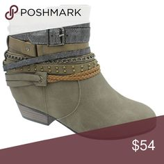 dfe3b5082e26 Pierre Dumas Taupe Ankle Bootie Casual and trendy! These stacked heel boots  by Pierre Dumas