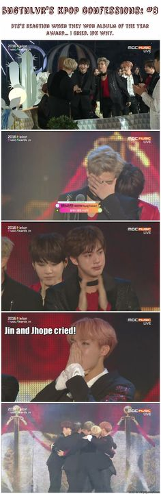 I cried too XD i'm so proud of you guys!!