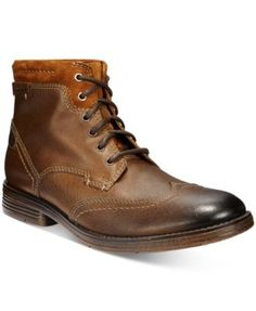 Clarks Men's Devington Hi Wing-Tip Boots - Brown 7