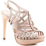 Vince Camuto - Janene - Creme Powder Suede - Crystal Wedding Heels