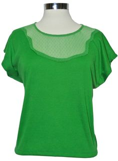 One of our fave cutesy cute Ts with lace detail front and back available in apple green and black. $59  www.facebook.com/lulamaeboutique  www.lulamae.com.au