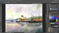 1. Watercolor Painting In Photoshop (including all tools, brushes, paper...