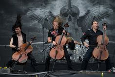 Apocalyptica is a Finnish cello musical group from Helsinki, Finland, formed in Kuopio Wine Festival - Music Pics, Music Tv, I Love Music, Music Is Life, Music Stuff, Metal Music Bands, Heavy Metal Music, Rock And Roll, Power Metal