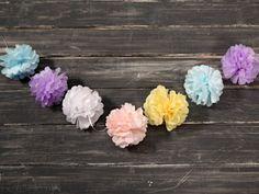 Manualidades y Artesanías | Guirnalda con flores de papel | Utilisima.com