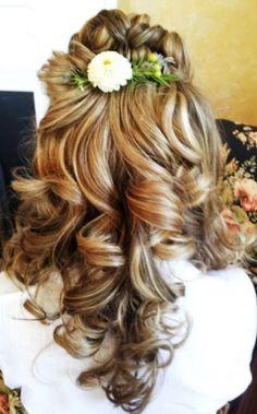 Bride's braided crown half up long down curls bridal hair ideas Toni Kami Wedding Hairstyles ♥❸ Stunning hairstyle